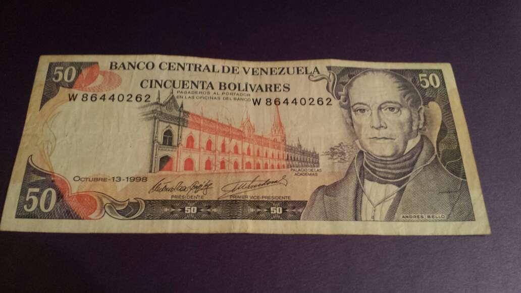 Imagen billete del 98 de 50 bolívares