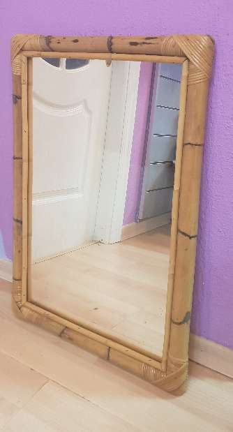 Imagen Espejo marco bambu