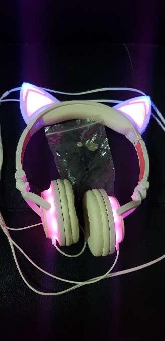 Imagen Auriculares orejas gato LED