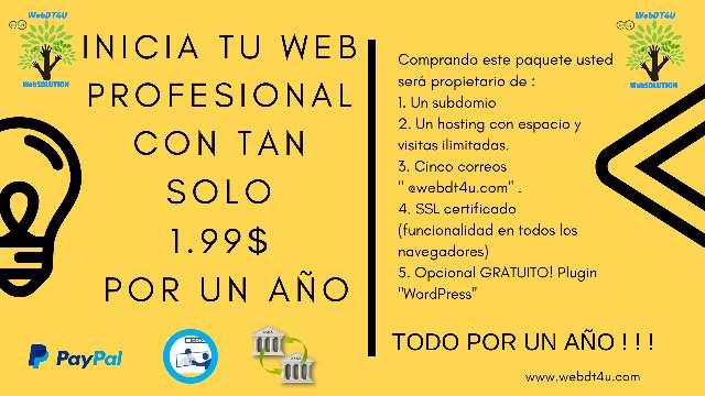 Imagen producto Web profesional con poca inversión 1