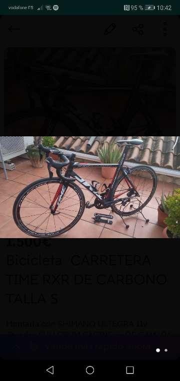 Imagen producto Bicicleta carretera time rxr de carbono. Talla (s) 51/52 2