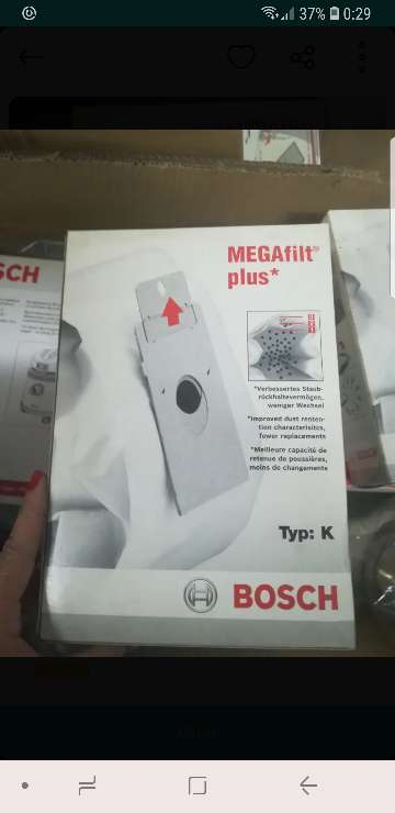 Imagen bolsa aspirador Bosch megaflit plus