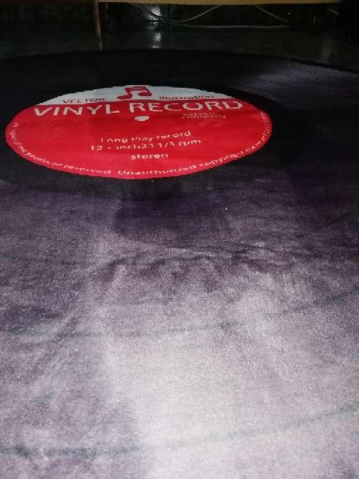 Imagen producto Alfombra vinilo, 120 cm de diametro 2