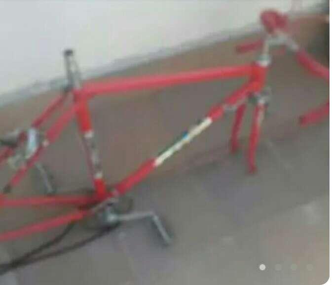 Imagen cuadre de bicicleta ciclista