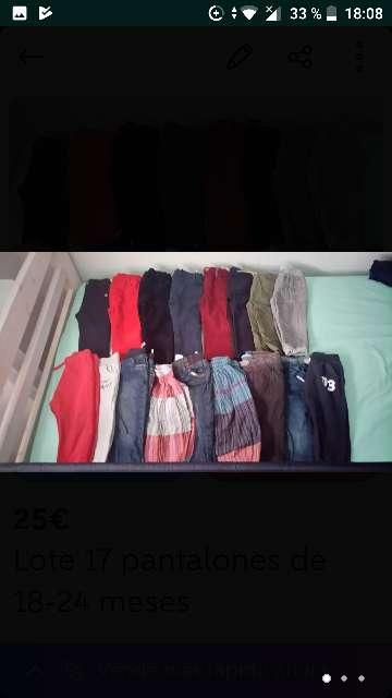 Imagen Lote 17 pantalones 18-24 meses