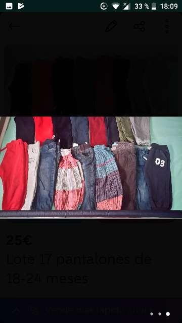 Imagen producto Lote 17 pantalones 18-24 meses 3