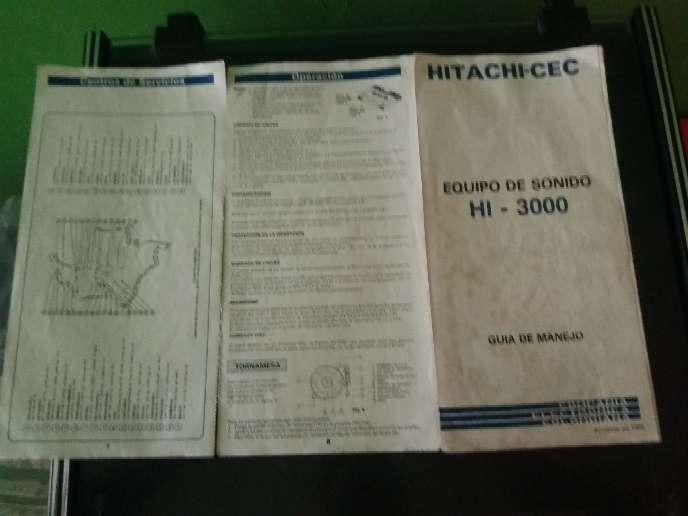Imagen producto Equipo de sonido antiguo Hitachi  5