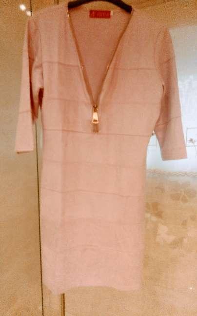 Imagen vestido talla 44 de ante color malva