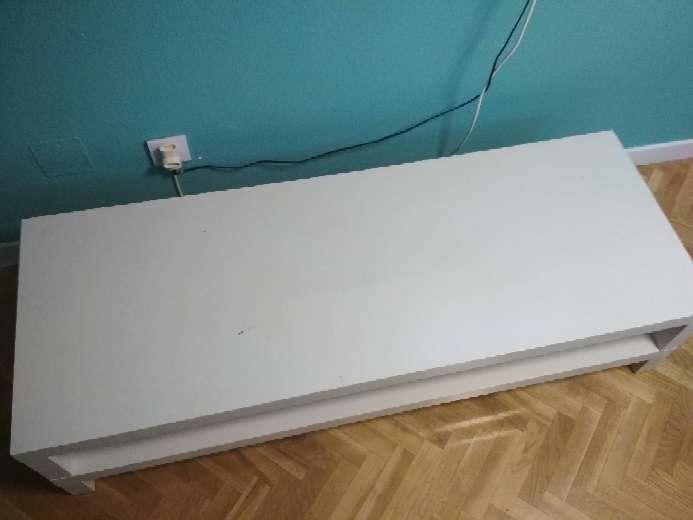 Imagen producto Mesa TV madera blanca 2
