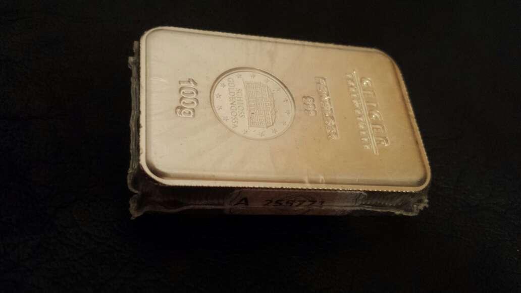Imagen producto Lingote de plata pura 999 de 100 gramos  2