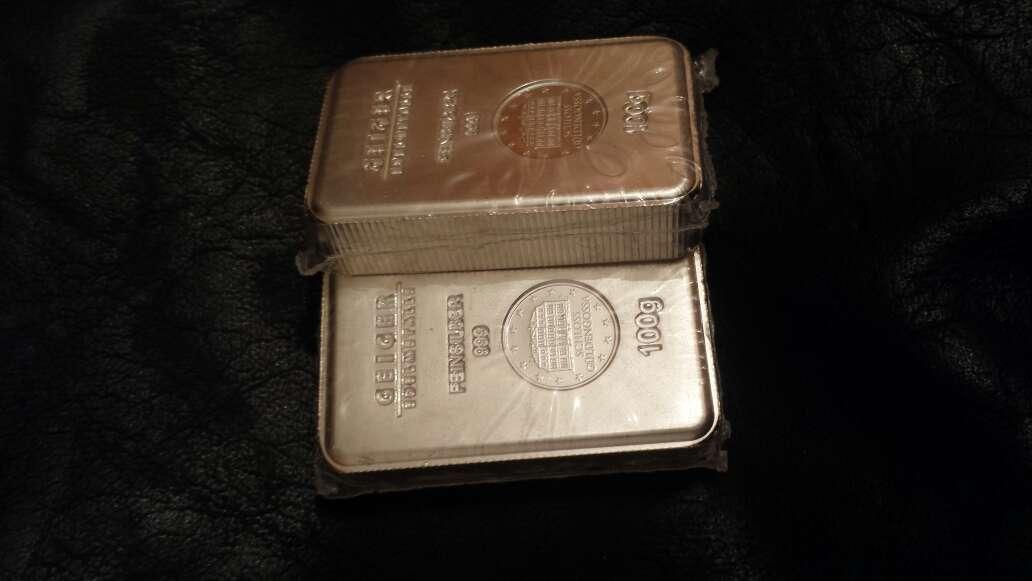 Imagen producto Lingote de plata pura 999 de 100 gramos  4