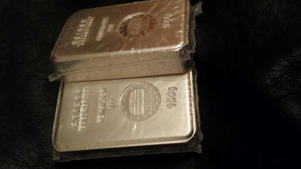 Imagen producto Lingote de plata pura 999 de 100 gramos  5