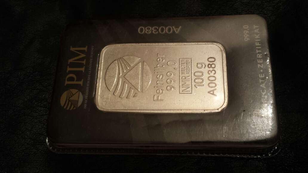 Imagen producto Lingote de plata pura 999 de 100 g PIM  2