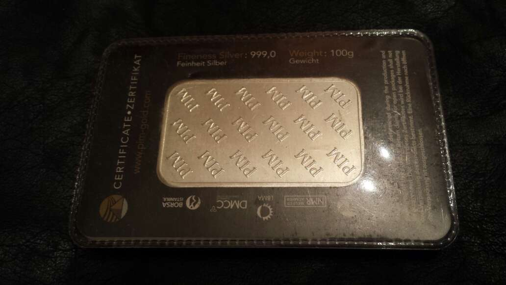 Imagen producto Lingote de plata pura 999 de 100 g PIM  3