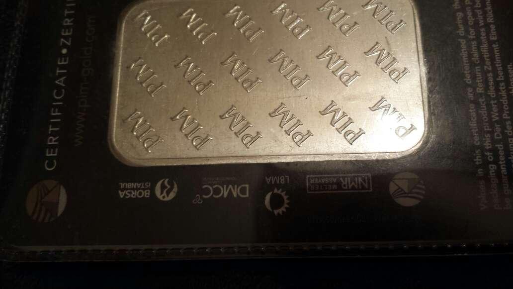 Imagen producto Lingote de plata pura 999 de 100 g PIM  4