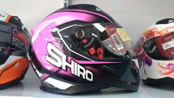 Imagen producto Casco moto integral Shiro motegi  rosa 1