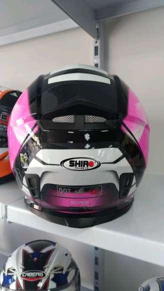 Imagen producto Casco moto integral Shiro motegi  rosa 3