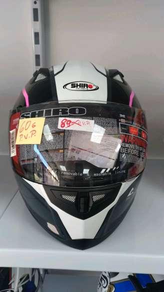 Imagen producto Casco moto integral Shiro motegi  rosa 2