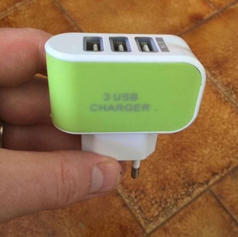 Imagen Cargador con 3 puertos USB