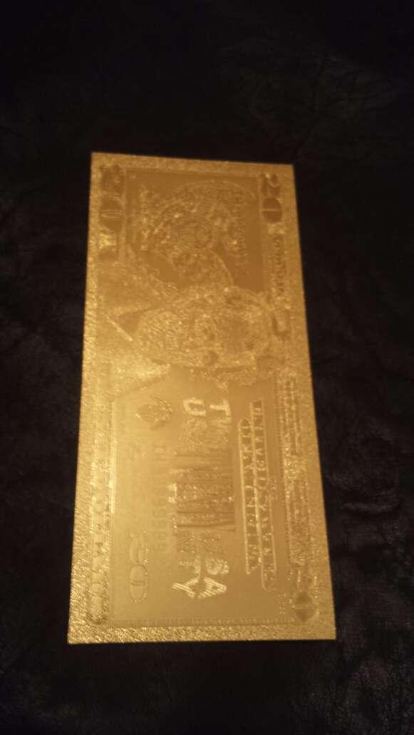 Imagen billete dólar 20 50 o 100 oro