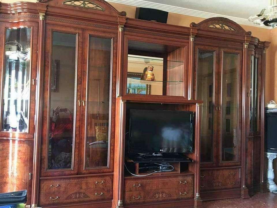 Imagen producto Mueble salon barnizado nogal  1