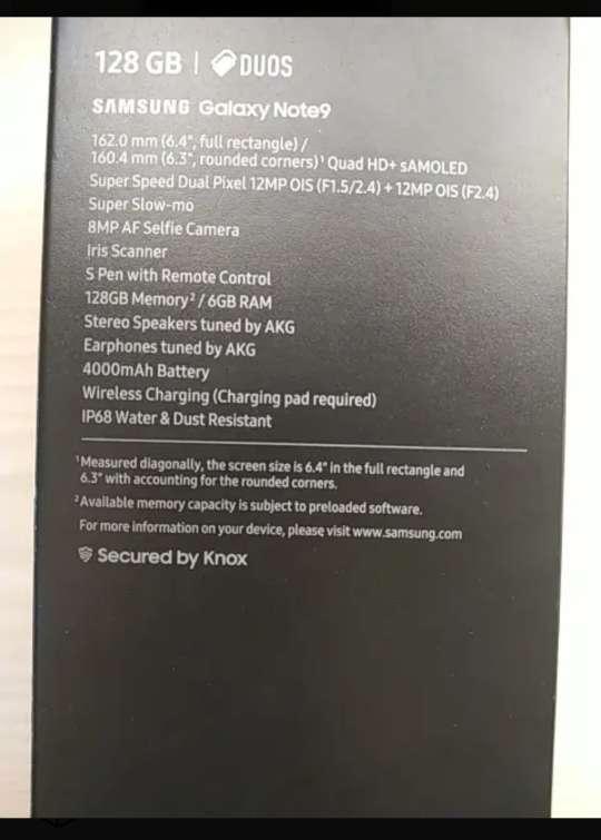 Imagen producto Samsung Galaxy note 9 4