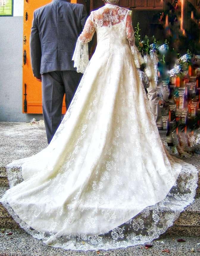 Imagen producto Bajado de precio. Vestido de novia completo  1
