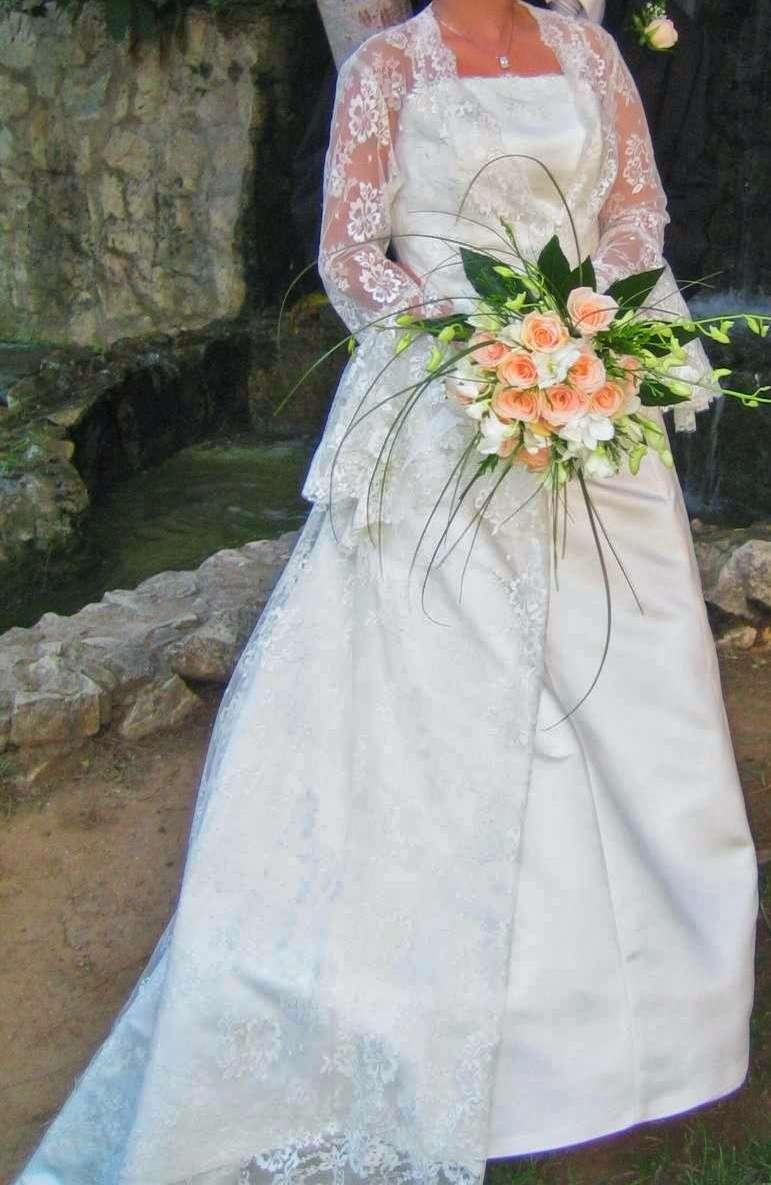 Imagen producto Bajado de precio. Vestido de novia completo  4