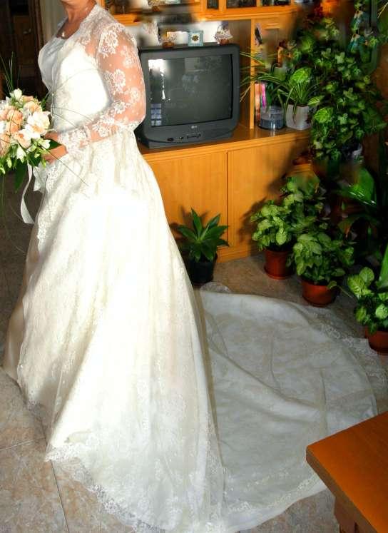 Imagen producto Bajado de precio. Vestido de novia completo  7