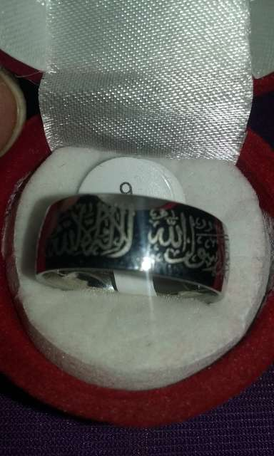 Imagen anillo shahada plateado talla 9 acepto paypal y transferencia bancaria