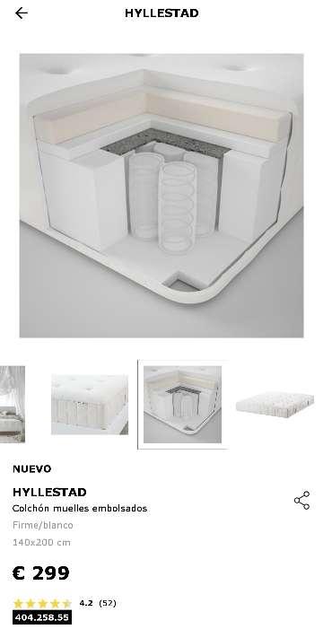 Imagen producto Colchón HYLLESTAD 140x200 de IKEA  6