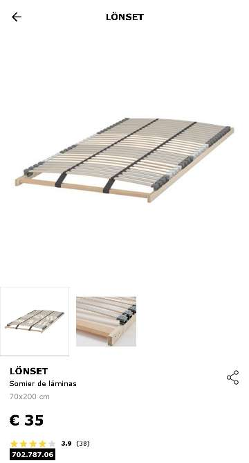 Imagen producto 2 Somieres de láminas LONSET 70x200 de IKEA 2