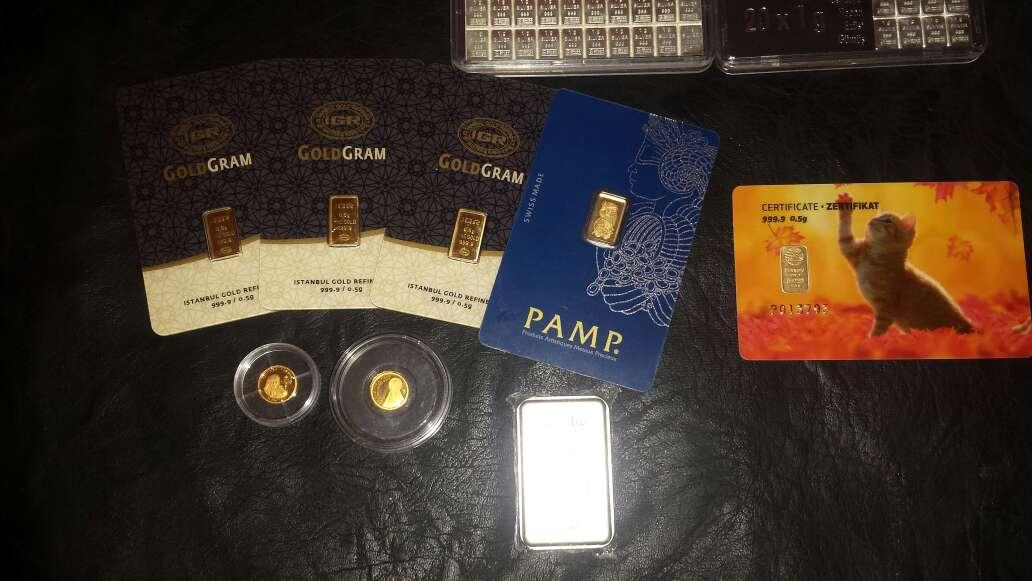 Imagen producto Lingotes de plata 999 y oro 999 3