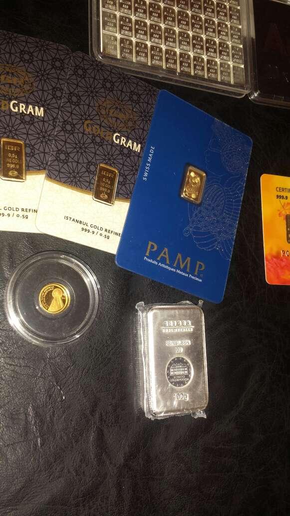 Imagen producto Lingotes de plata 999 y oro 999 4