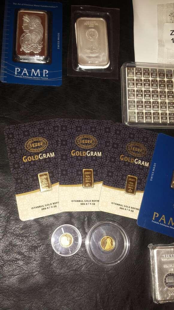 Imagen producto Lingotes de plata 999 y oro 999 5