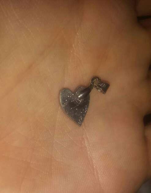 Imagen pequeño colgante del espacio corazón