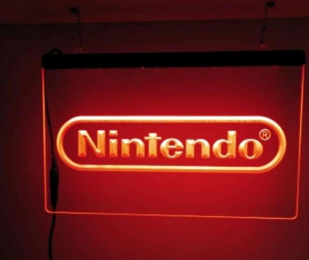 Imagen producto Cartel luminoso nintendo 1