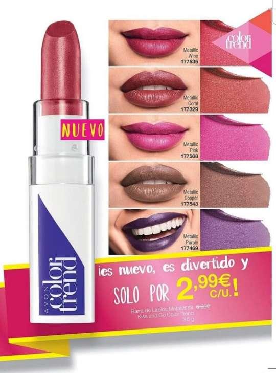 Imagen Barra de labios metallic hidratante