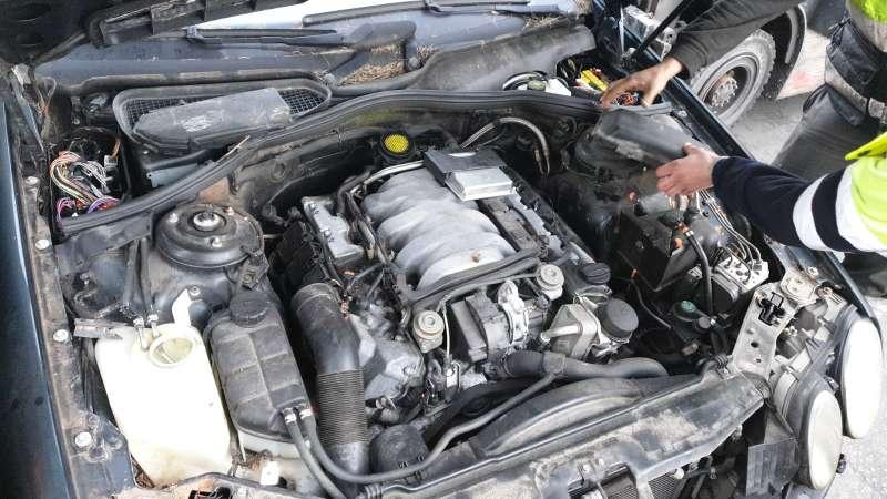 Imagen motor MB cl 55 amg