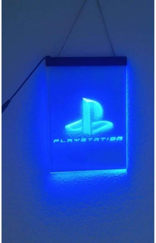 Imagen cartel luminoso Play station