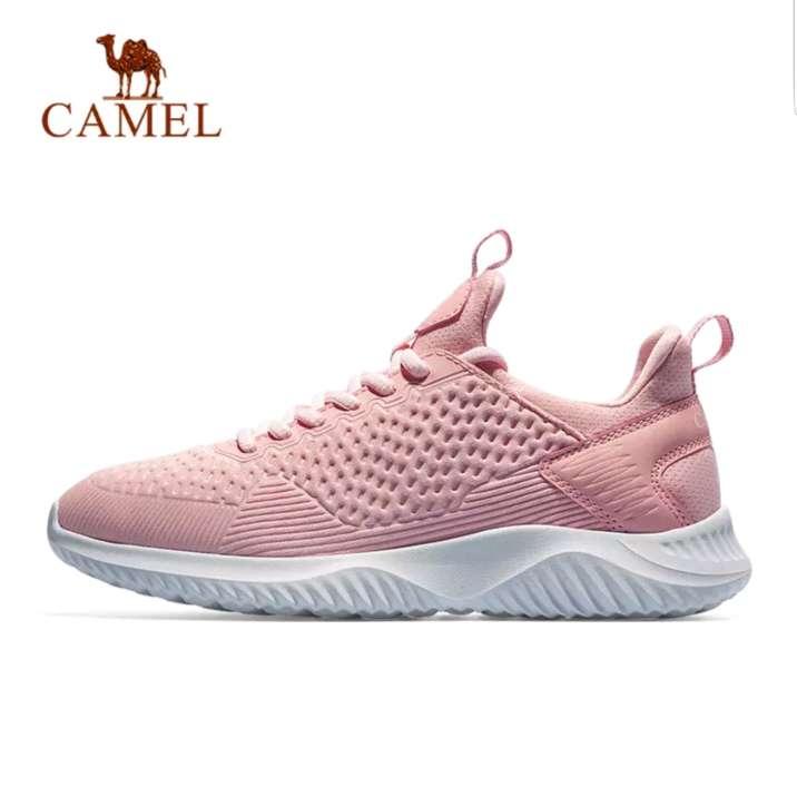 Imagen Zapatos deportivos sneakers zapatillas camel rosa mujer