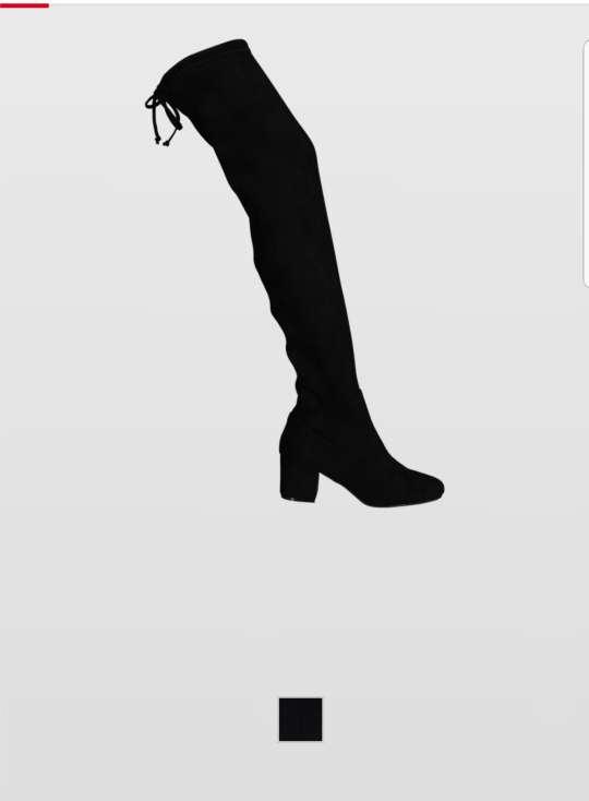 Imagen Botas altas negras tacón grueso