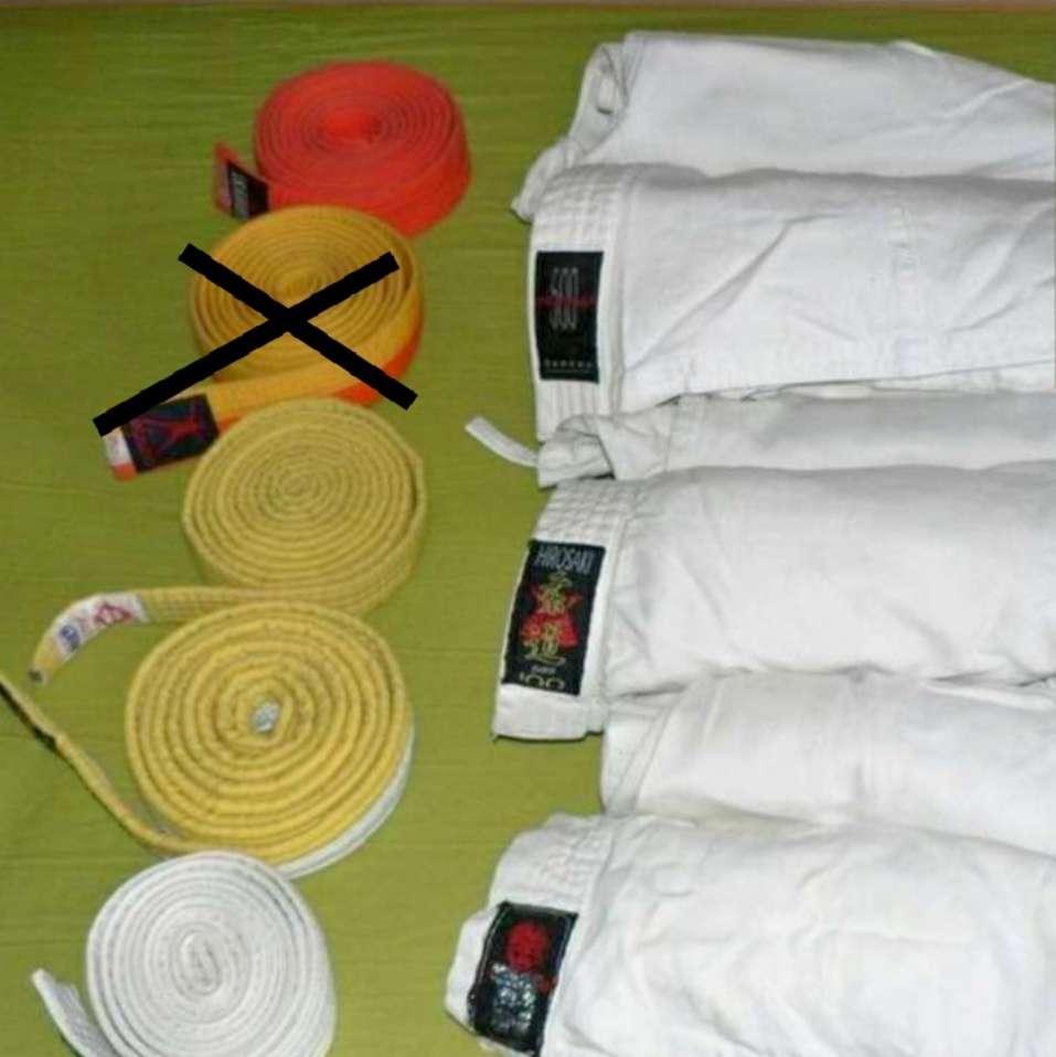Imagen kimono cinturón  judo karate