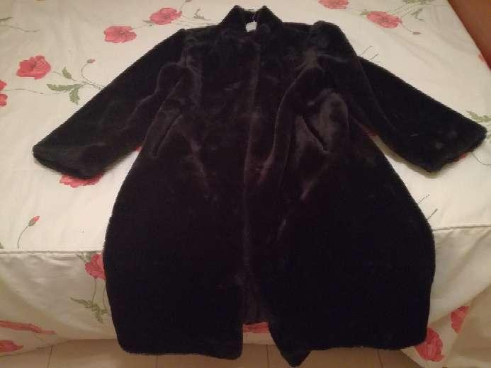 Imagen producto Abrigo de piel negro mouton 2
