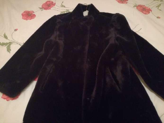 Imagen producto Abrigo de piel negro mouton 4