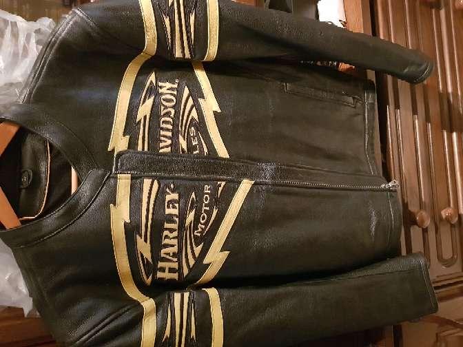 Imagen producto Chaqueta moto harley davison original piel  1