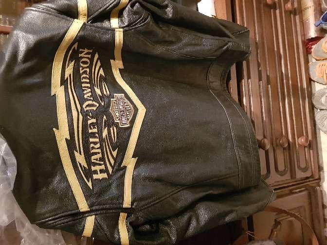 Imagen producto Chaqueta moto harley davison original piel  2