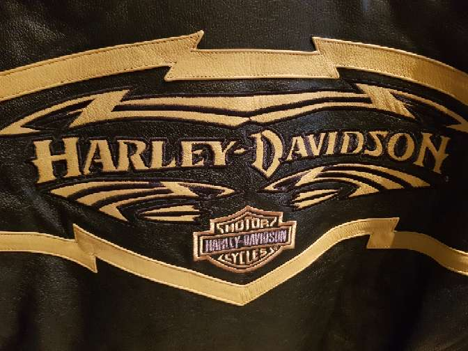 Imagen producto Chaqueta moto harley davison original piel  4
