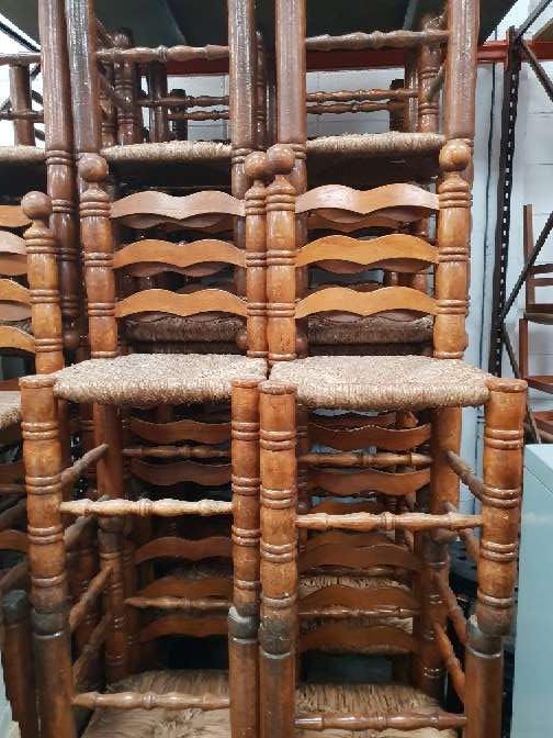 Imagen sillas madera