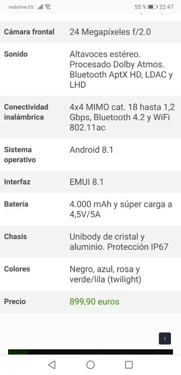Imagen producto Huawei p20 pro sin Extrenar  4